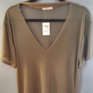 Charlotte Russe see through olive top